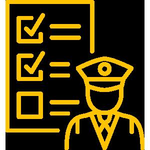 Icon Beamter und Checkliste